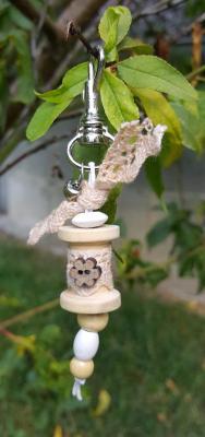 """bijoux de sac """" bobine petit modèle fleur"""""""