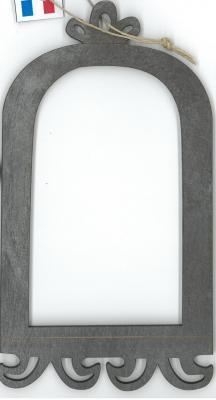 Cadre Cage gris métallisé