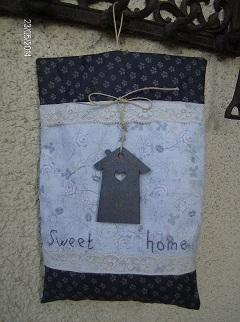 "Coussin de porte ""Sweet home """
