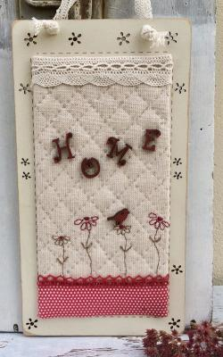 """Fiche de patchwork - Plaque de porte """"Home"""" - KitTB83"""