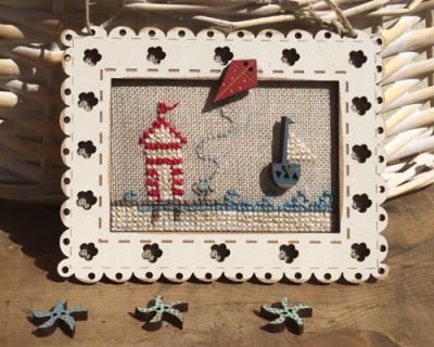 """KTBE1 Kit de point de croix """"bord de mer"""""""