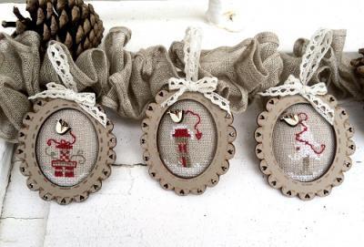 """KTC11 Kit de point de croix """" 3 mini cadres de Noel"""""""