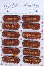TB71 Mois de l'année Bordeaux