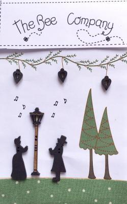 """TBN20  Boutons """"Chanteurs de Noel"""""""