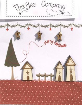 """TBN21 Boutons village """"Merry christmas"""