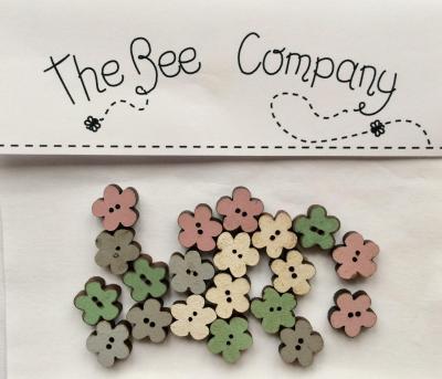 Boutons Mini fleurs assorties