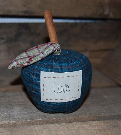 pomme bleu étiquette