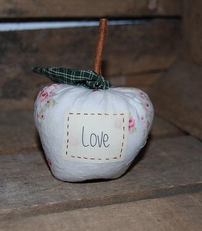 pomme rose étiquette