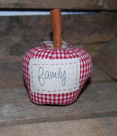 pomme rouge étiquette