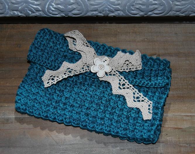 trousse laine bleu