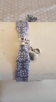 "Bracelet bleu gris ""pomme"""