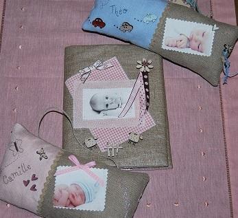 """Kit de Scrap Textile """"Pour  Bébé"""""""