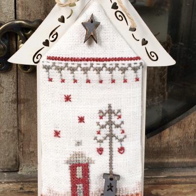 Fiche de point de croix - Maisonnette Noël KMAIS5
