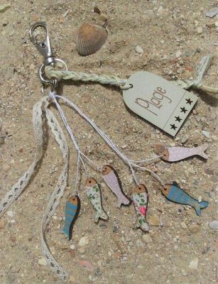 poissons et étiquette plage