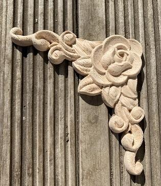 Moulure d'angle à Fleurs (Lot de 4)
