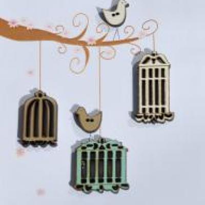 TB21C Boutons Oiseaux et cages