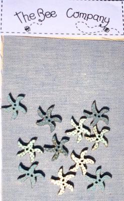 TBE5b - 12 boutons mini étoiles de mer