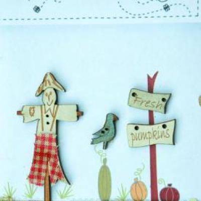 TBHA5  Button Scarecrow