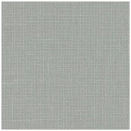 Toile de lin a broder belfast zweigart gris bleute ref 778